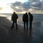 Coastside...The boys checking out washed up treasures