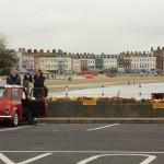 haha SO ENGLISH!! mini cooper, English coastal town. Amazing.
