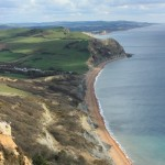 view from Golden Cap- highest point in Dorset