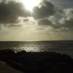 Peek-a-boo sun in West Bay