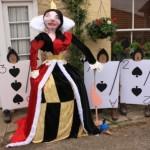 Queen of Spades scarecrow
