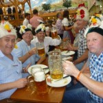 Old men showing off their Oktoberfest spirit!