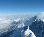 Beautiful view at Aiguille du Midi