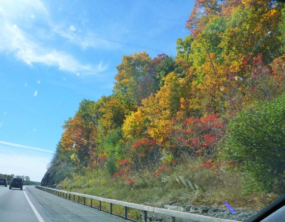 Beautiful scenery on the I-90 en route to Boston