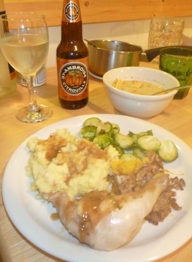 Thanksgiving dinner - with pumpkin beer, obviously!