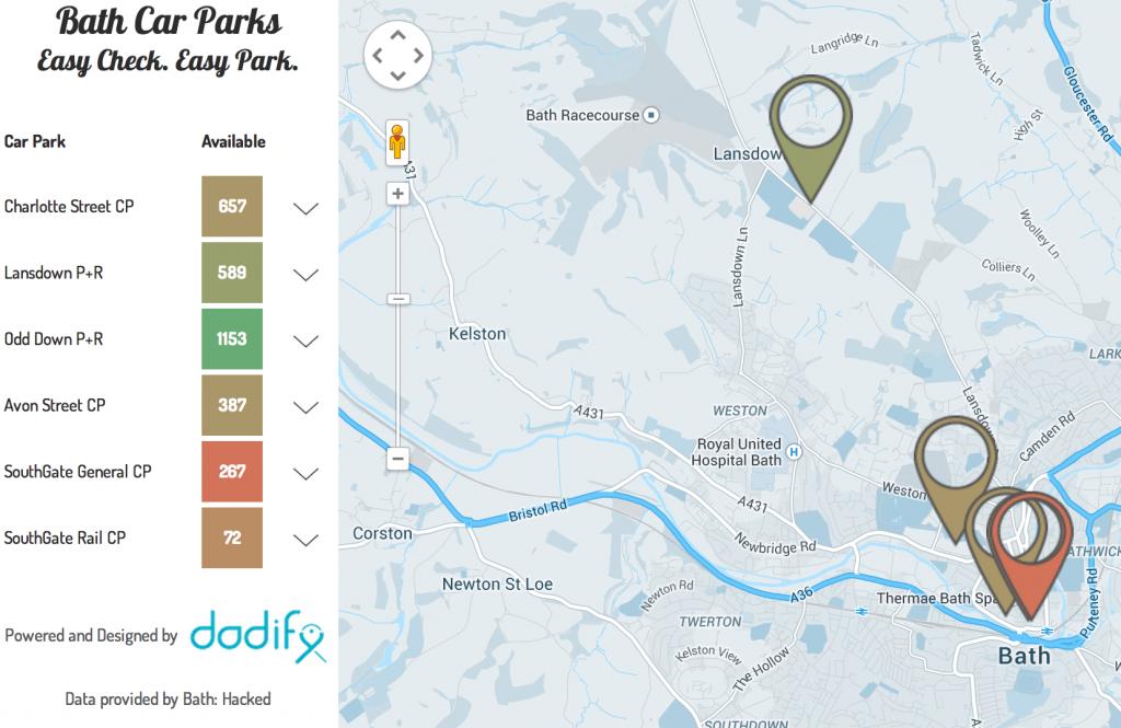 Bath Car Parks app